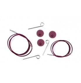 Knit Pro Тросик (заглушки 2шт, ключик) для съемных спиц
